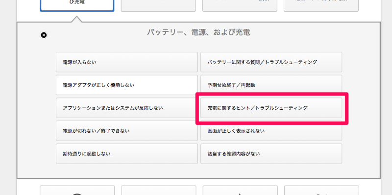 Apple サポート 確認内容の選択 3