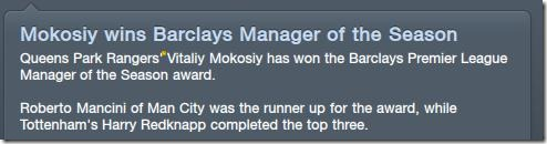 Barclays Manager of the Season