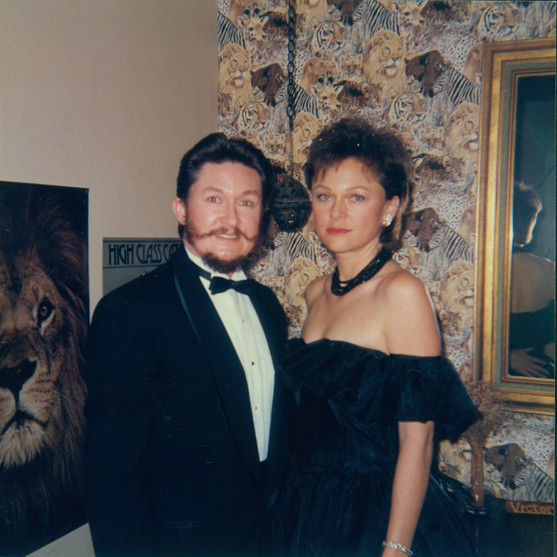 Lynn Edward Harris with date. March 1987.