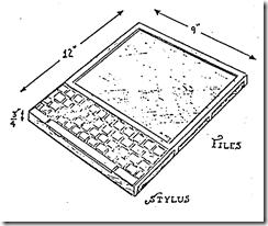 Koncept tabletu z roku 1968: Dynabook Alana Kaye.