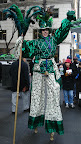 Ms. Money Penny on stilts