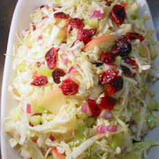 Coleslaw With Apples & Dried Cranberries