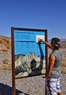 The Badlands area of Death Valley