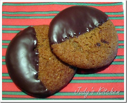 choc dipped ginger cookies