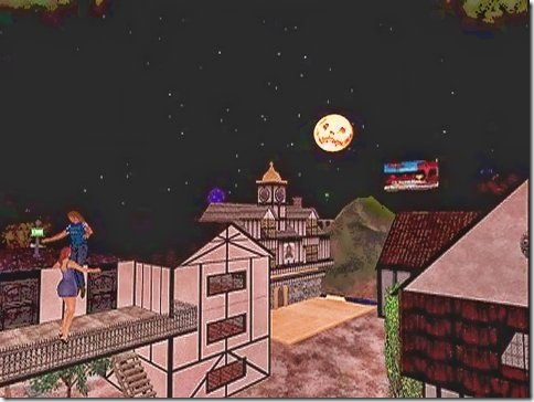 Hallowe'en moon in Taber - 2003 - fc land