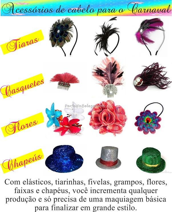 acessorio de cabelo pra usar no carnaval