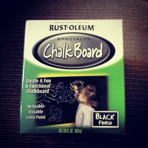 chalkboard paint rustoleum