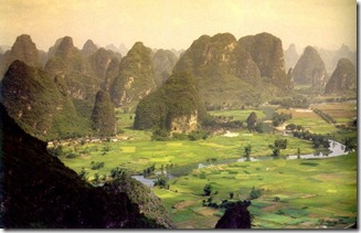 Karstic peaks at Guilin, along the Li river China