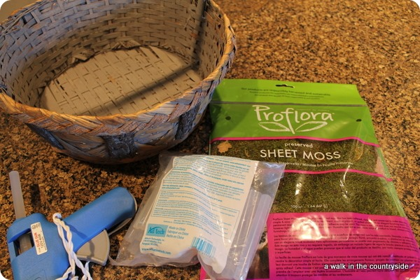Pottery Barn inspired Moss Basket