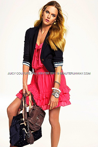 JUICY COUTURE Fall Winter 2011 Dress, Cardigan and bags