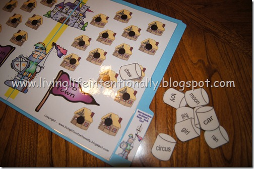 free 1st grade marshmallow noun verb file folder game