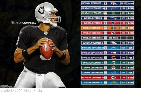 'Oakland Raiders - Jason Campbell' photo (c) 2011, Mike - license: http://creativecommons.org/licenses/by-sa/2.0/