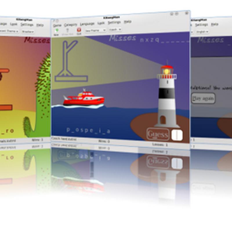 Guía de KHangMan el clásico juego infantil del ahorcado, adaptado para KDE: menú, sugerencias y ajustes.