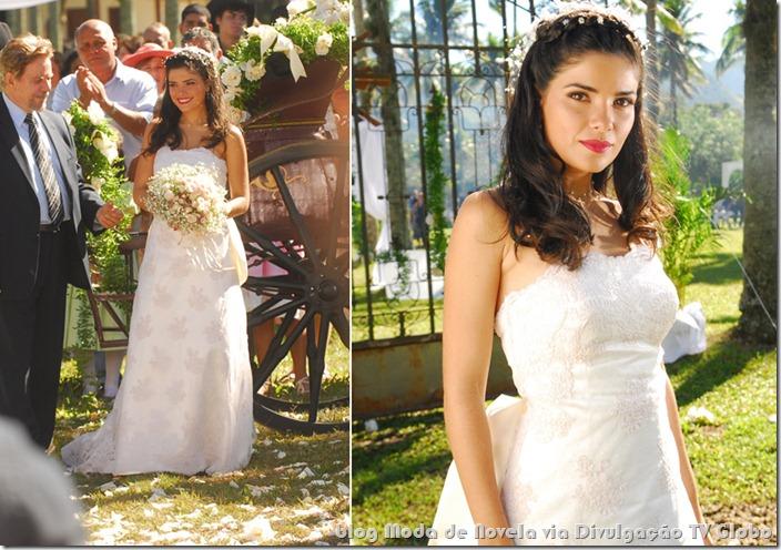 moda da novela paraíso - vestido de noiva da rosinha
