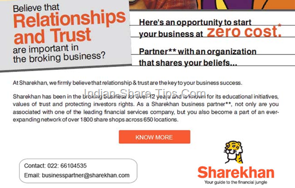 Sharekhan franchisee offer