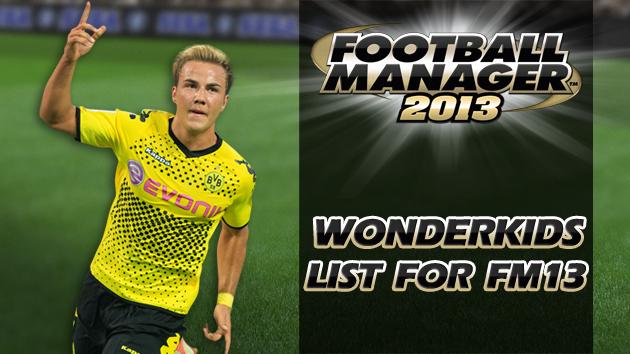 Wonderkids List for Football Manager 2013