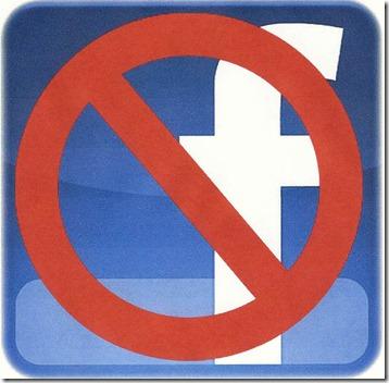 No-Facebook-logo