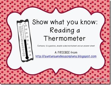 ReadingAThermometerFREEBIE
