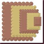 Spellbinders Scallop Rectangles Small