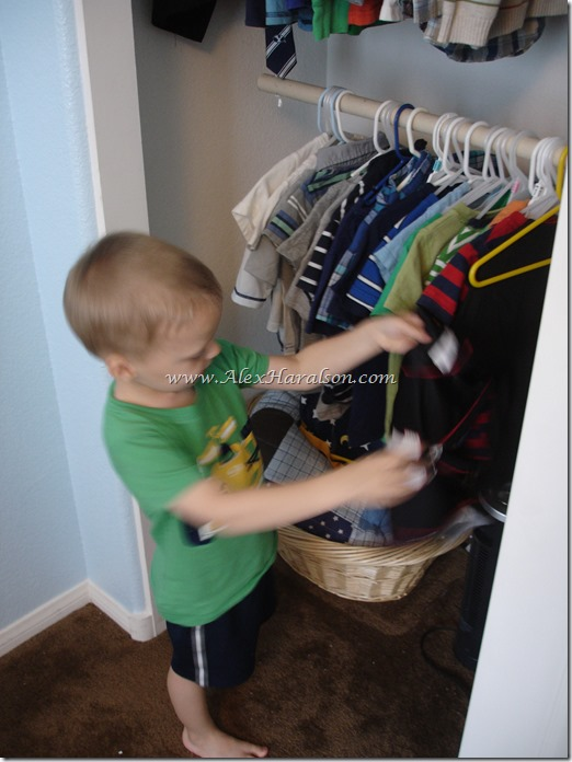 Easy Kids Closet Organization10