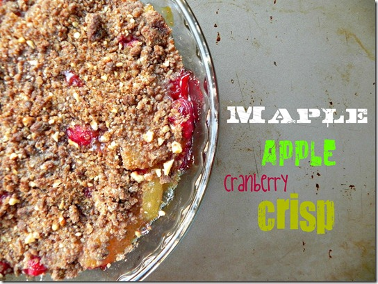 Vegan Maple Apple-Cranberry Crisp - Savoring Italy