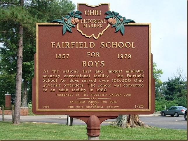 Boys industrial school sign