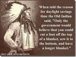 wise old indian on DST