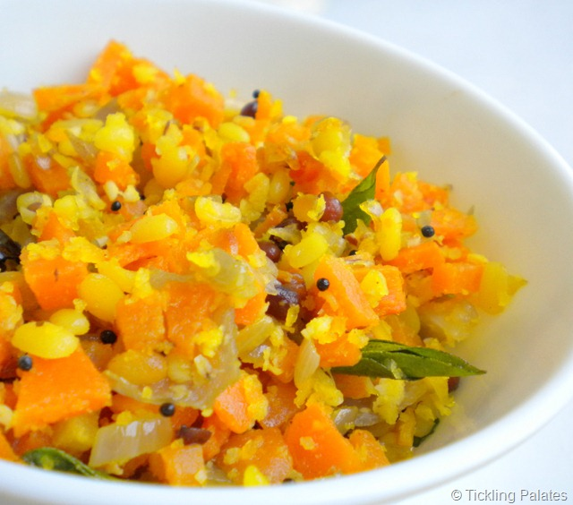 Carrot Moong Dal Stir Fry