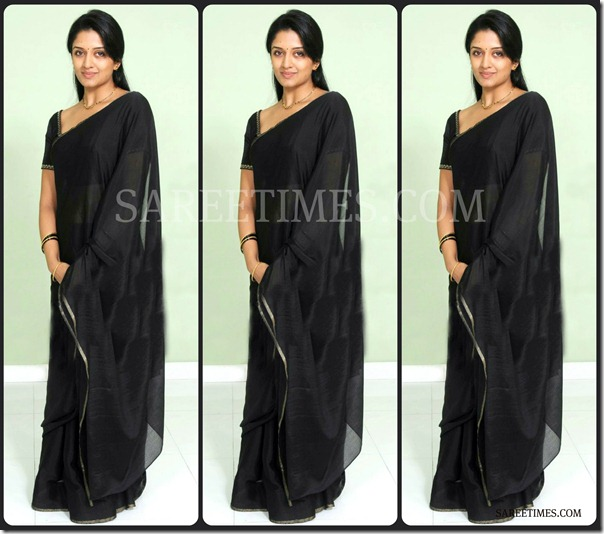Vimala_Raman_Black_Saree