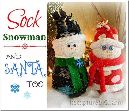 Sock Snowman Sock Santa 042B