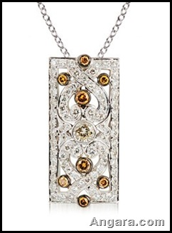 Round Diamond Art Deco Designer Pendant