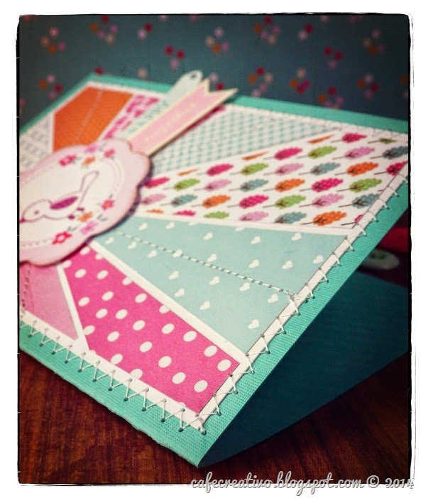 cafe creativo - craft asylum - scrapbooking card sunbrust