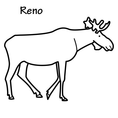 Dibujos De Renos. Dibujos De Renos. Navidad Para Colorear Renos Papa ...