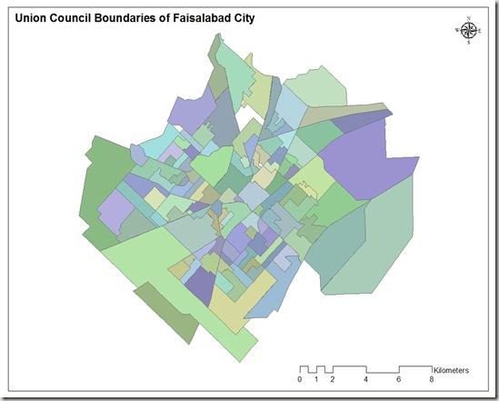 Union council boundaries of faisalabad