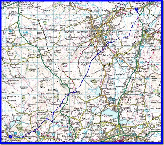 Our route - 14km, 300 metres ascent, 4 hours