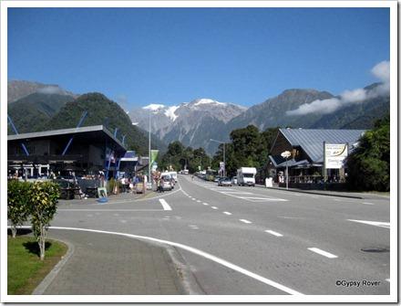 Franz Josef village.