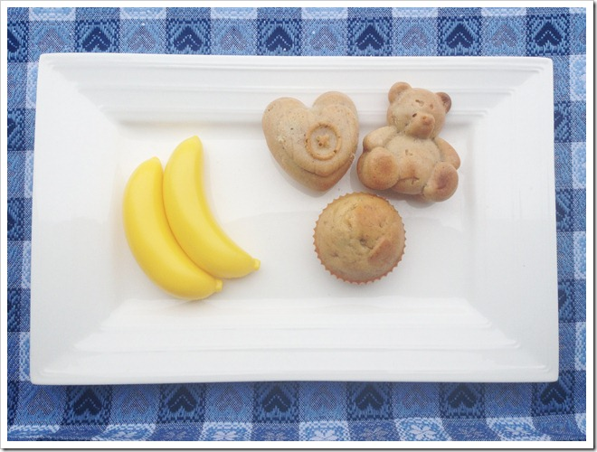 muffin banane e miele