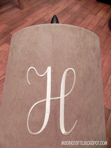 adhesive embroidered monogram