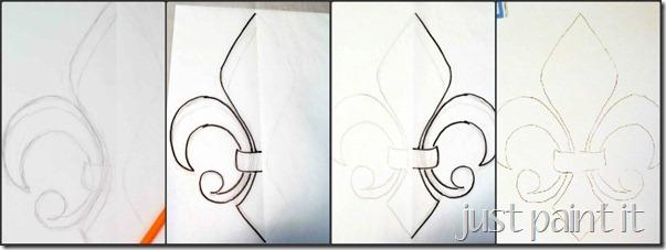 draw fleur de lis pattern