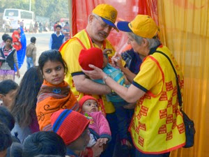 Delhi Camp Vaccinating Teamwork