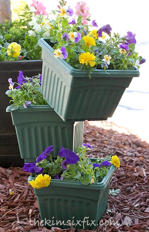 Tiered flower pots