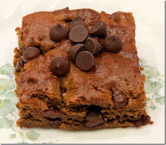 Grain Free Chewy Gingerbread Blondies with Chocolate Chips 12-17-13