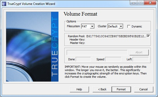 Jendela volume format di program TrueCrypt