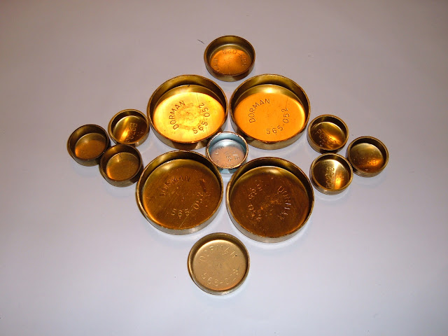 Brass freeze plug kits, 40.00 and do not come with oil galley plugs.