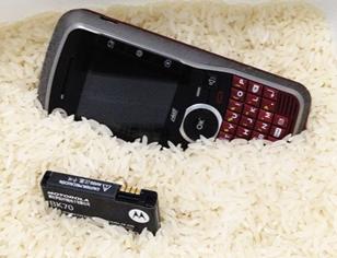 Bateria de Smartphones com Composto de Arroz
