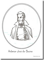 antonio jose de sucre procer colombia colorear