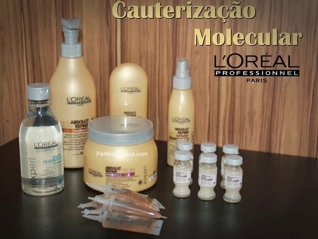 cauterização molecular, absolut repair loreal, loreal