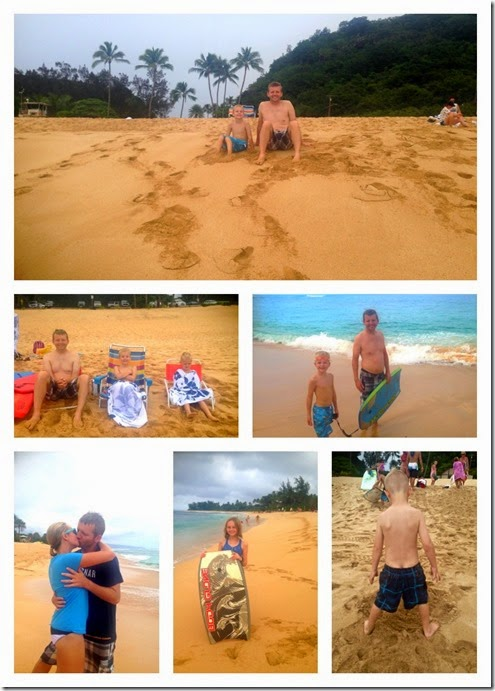 sunset beach Collage