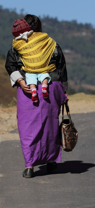 A Bhutanese mother and her child