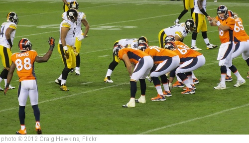 'Audible to Thomas, Broncos vs Steelers 2012' photo (c) 2012, Craig Hawkins - license: http://creativecommons.org/licenses/by-nd/2.0/